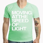 Image of T-SHIRT Moving at the Speed of Light - V Neck
