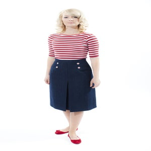Image of 'Little Jess' skirt - Nautical - DENIM