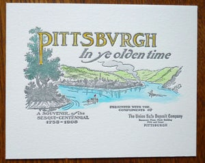 Image of Hand Painted Letterpress Print