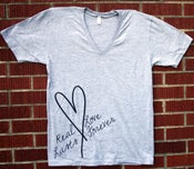 "Image of ""Real Love Lasts Forever"" V-Neck"
