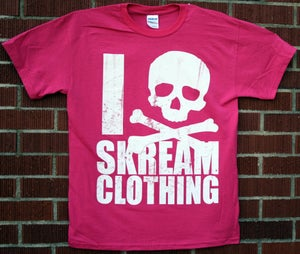 "Image of ""I Skull Skream Clothing"" T-Shirt (Perfect Pink)"