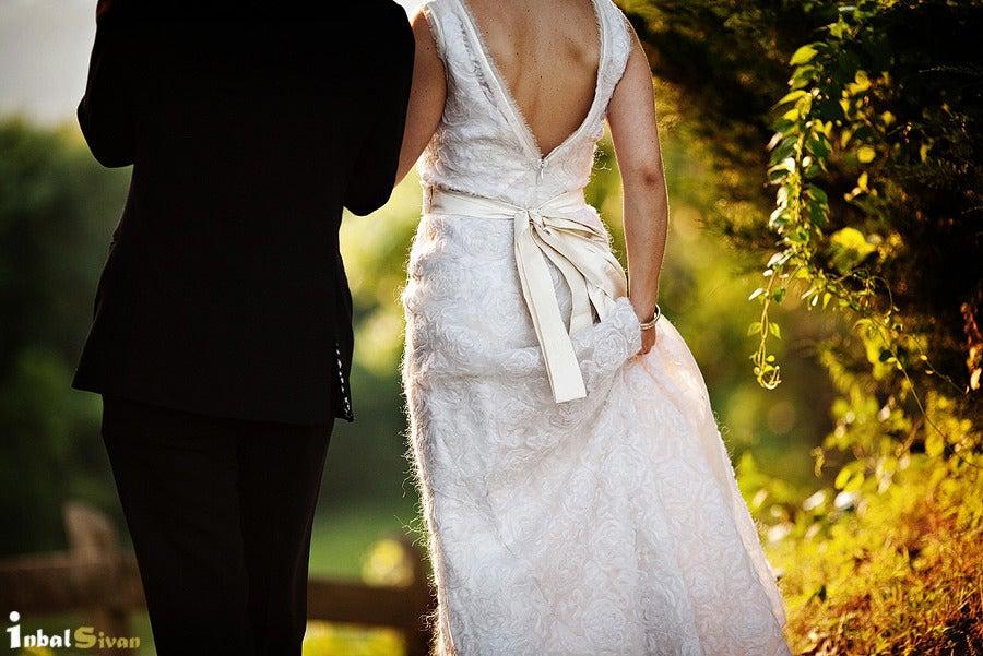 Image of 2 Inch Wide Silk Dupioni Bridal Sash