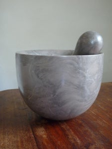 Image of  Grey marble pestle and mortars  ( large)