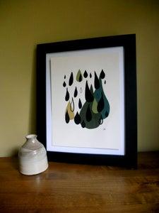 Image of Falling Silk Screen Print