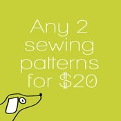 Image of Any two sewing patterns