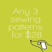 Image of Any three sewing patterns