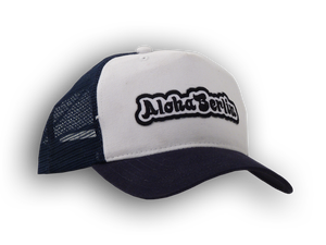 Image of Trucker Mesh Cap (navy-white)