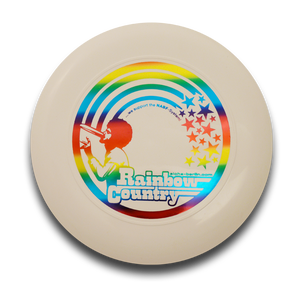 Image of Freestyle Frisbee - Rainbow Country (white)