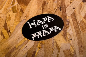 "Image of ""Hapa is Prapa"" Black sticker"