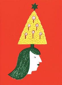 Image of Christmas tree girl