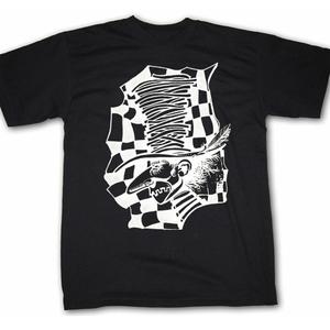 Image of Mad Hatter: White on Black Shirt