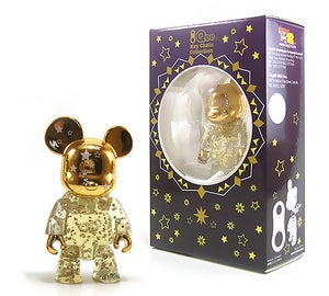 "Image of 2.5"" Qee Gold Shining Star Bear"