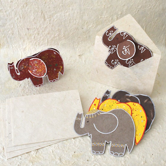 Image of Elephant greeting cards