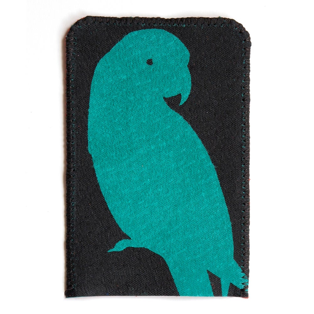 Image of Green Parrot Card Holder