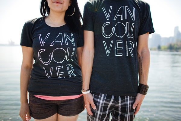 Image of Vancouver, we love you T-shirt (Black)