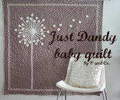 Image of just dandy baby quilt pdf file
