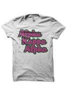 Image of AKA - Bubble letter tee