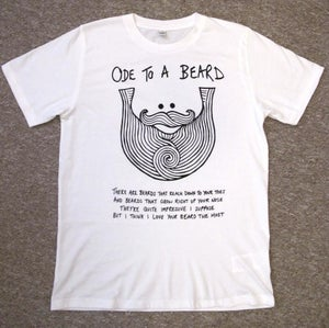 """Image of Exclusive """"Ode To A Beard"""" Beard Song Tee"""