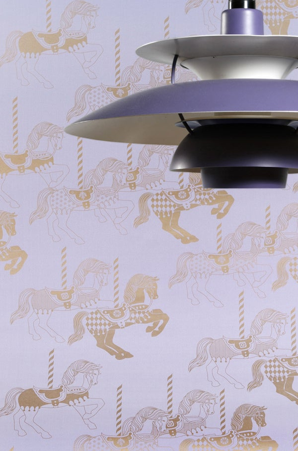 Image of Fayre's Fair Wallpaper - Heather and Gold
