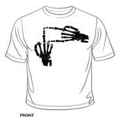Image of Skeleton Hands T-Shirt + FREE Diligence Album