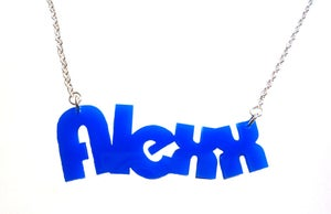 Image of Kitsch Custom Personalised Acrylic Name Necklace