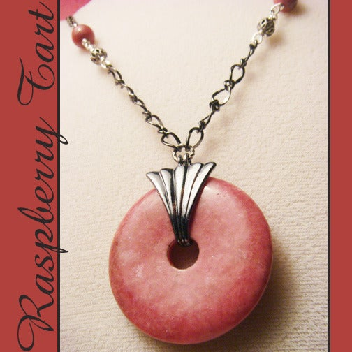Image of Raspberry Tart Necklace