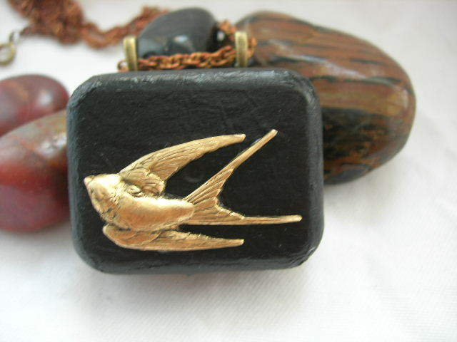 Image of Soaring Swallow Musical Pendant