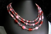 Image of Pink 3-Strand Necklace