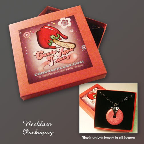 Image of Raspberry Tart Necklace