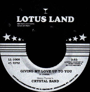 """Image of LL-1005 - Crystal Band """"Music"""" b/w """"Giving My Love Up To You"""""""