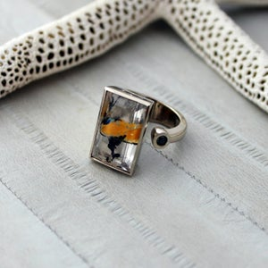 Image of Rutile Rings, 18k Gold