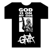 Image of God Is On My Side Black T-shirt