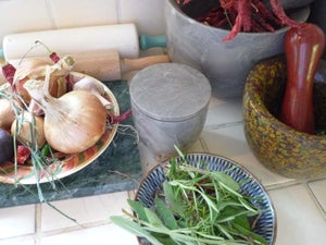 Image of Grey marble lidded pots (medium)