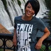 Image of faith hope love faveur | girls T-shirt