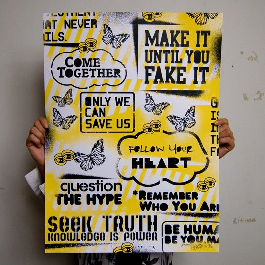Image of Uplifting Collage - Limited Edition Print