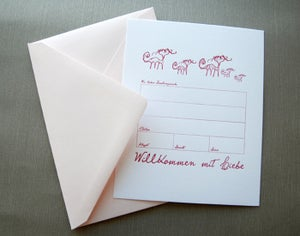 Image of Willkommen mit Liebe – Kleine Kätzchen zum Knuddeln! Letterpress-Set