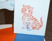 Image of Feed me! Letterpress Tigerbaby-Grußkarte