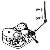 Image of On/Off Mechanism for Music Box - Spring-loaded Rod Stop