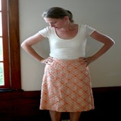 Image of Peach Geometric Skirt