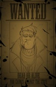 Image of The Adventures of Rusty Blanketts and Mustache Carruthers Promo Poster (Wanted)