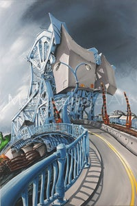 "Image of Johnson Street Bridge Limited Edition Giclée 32"" x 48"""