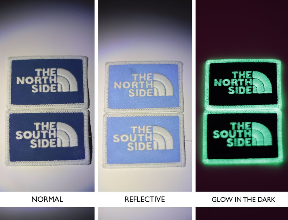 Image of NORTHSIDE SOUTHSIDE velcro patches