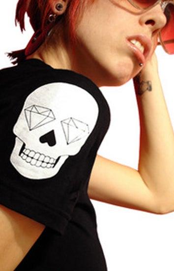 Image of Skull of Diamonds (Black/White)