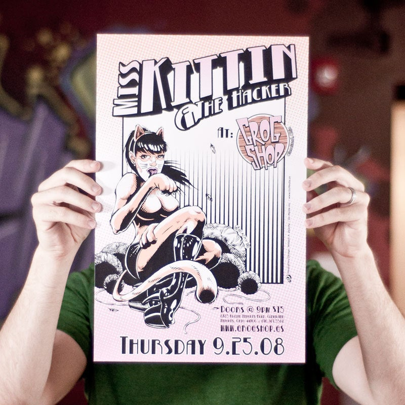 Image of Miss Kitten poster