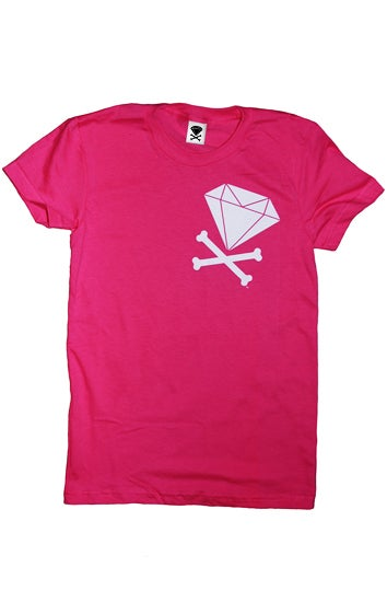 Image of Diamond & Crossbones Side (Fuchsia)