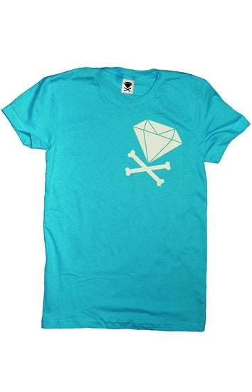 Image of Diamond & Crossbones Side (Teal)