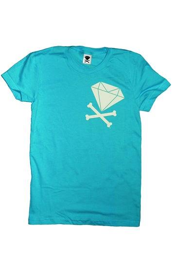 Image of Diamond & Crossbones Side (Teal)