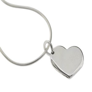 "Image of ""Little Silver Heart"" Pendant Necklace"