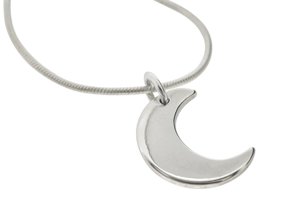 "Image of ""Little Silver Moon"" Pendant Necklace"