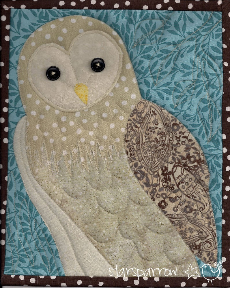 Free Quilt Pattern For Owls : StarSparrow Barn Owl Quilt, Cleo